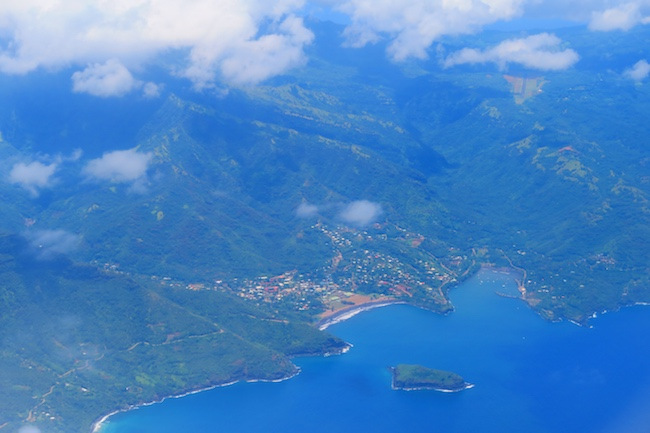 Aerial View Atuona Hiva Oa Marquesas Islands French Polynesia