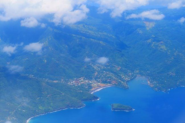 Aerial View Atuona Hiva Oa Marquesas Islands French Polynesia