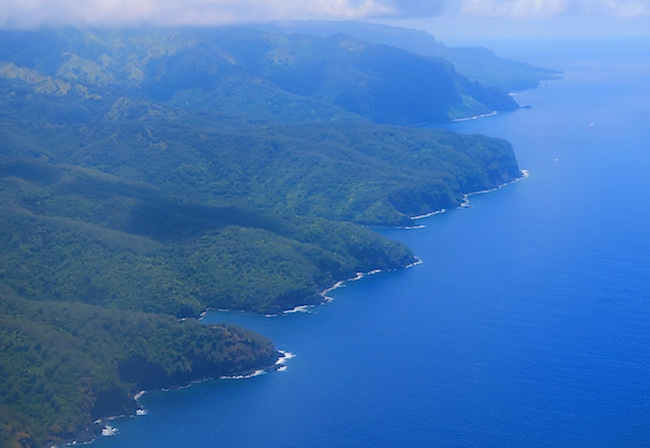 Aerial View Hiva Oa Marquesas Islands French Polynesia
