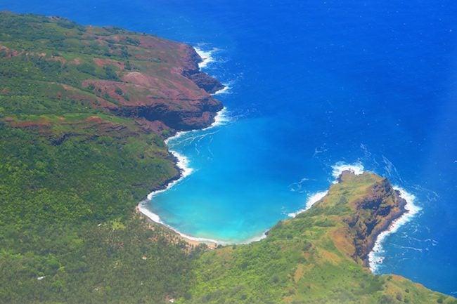 Aerial View Hiva Oa Marquesas Islands French Polynesia