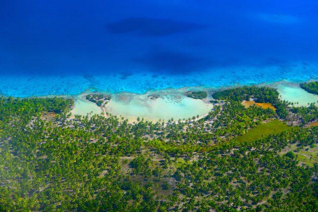 Aerial view of Rangiroa French Polynesia
