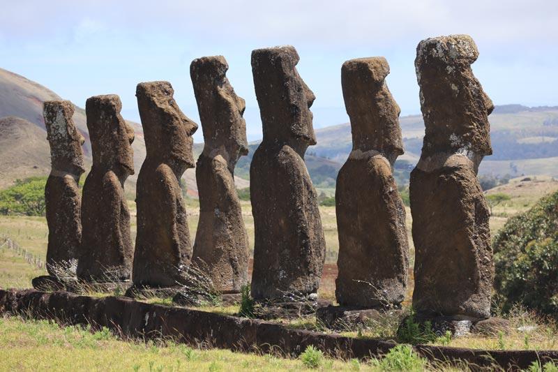 Ahu Akivi - Easter Island - back of moai