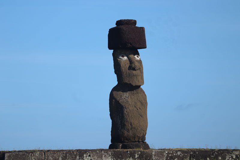 Ahu Ko Te Riku - fully restored moai - Ahu Tahai - Easter Island