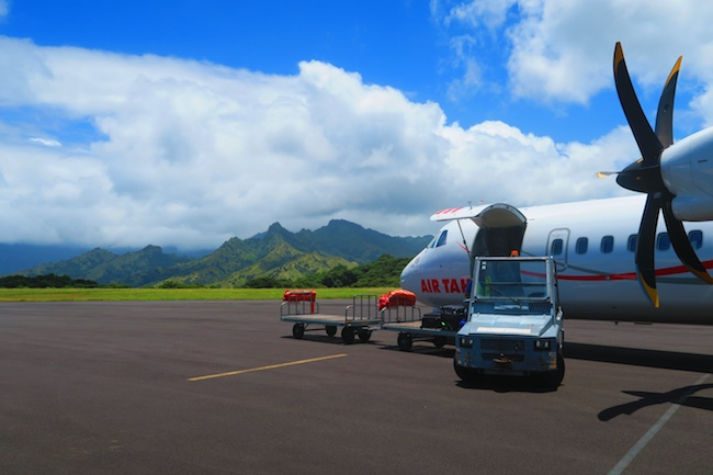 Airport Hiva Oa Marquesas Islands French Polynesia