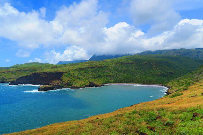 Alvarado Valley Nuku Hiva coastline Marquesas Islands French Polynesia