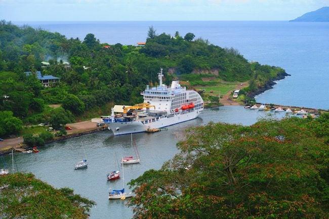 Aranui ship Hiva Oa Marquesas Islands French Polynesia