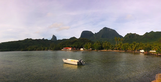 Atiha Bay moorea panoramic view french polynesia