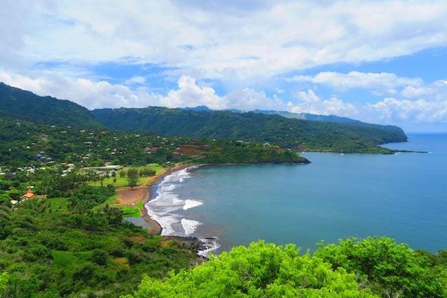 Atuona villa view from Taaoa Hiva Oa Marquesas Islands French Polynesia