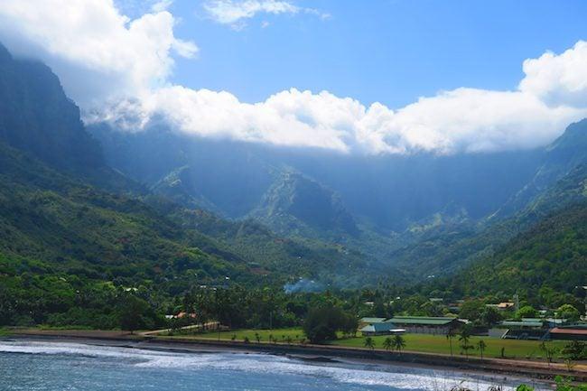 Atuona village Hiva Oa Marquesas Islands French Polynesia