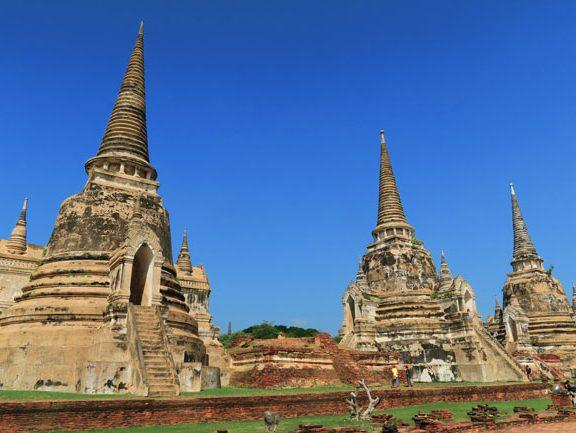 ayutthaya-thailand-spired-temples