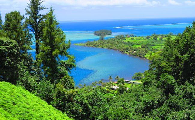 Bain de Vaima & Vaipahi Gardens Tahiti - view