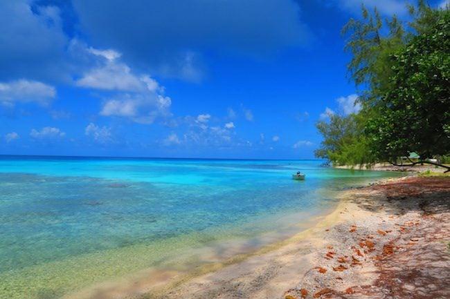 Beach in Rangiroa French Polynesia