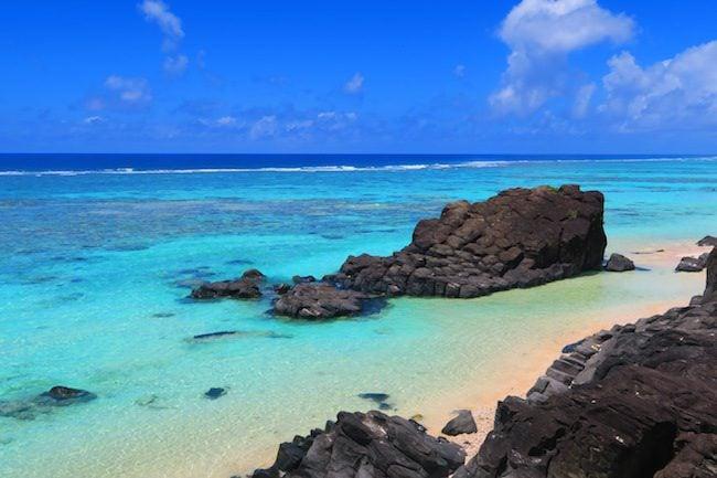Black Rocks beach Rarotonga Cook Islands 1