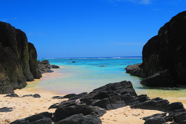 Black Rocks beach Rarotonga Cook Islands 2