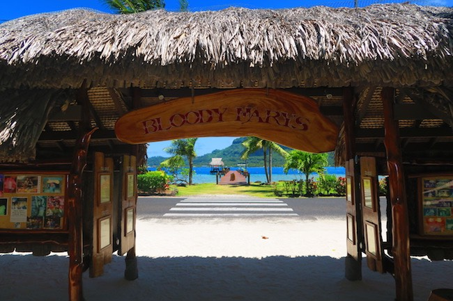 Bloody Mary's Bora Bora entrance