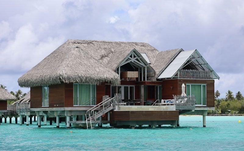 Bora Bora Lagoon tour French Polynesia Four Season overwater bungalow