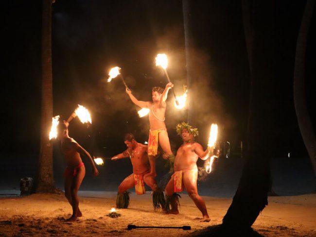 Bora Bora Pearl Beach Resort - fire dance show