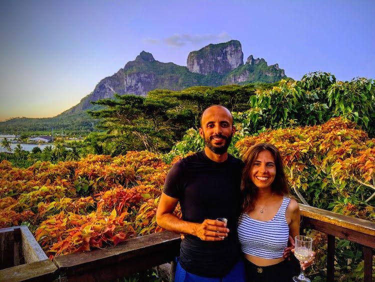 Bora Bora background French Polyensia