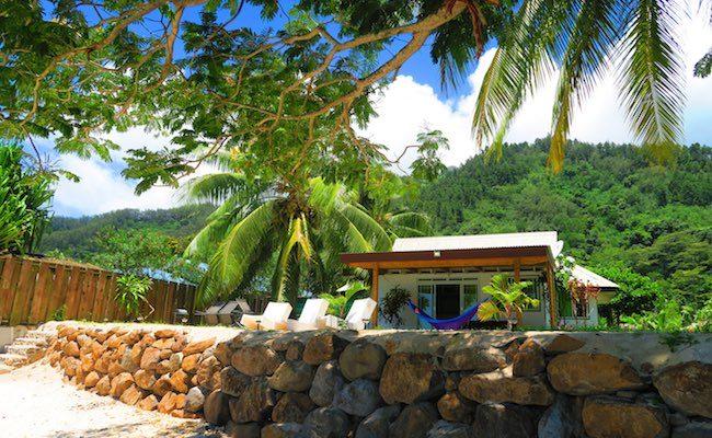 Bungalow neighborhood Moorea french Polynesia