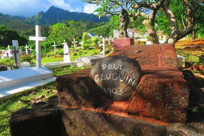 Calvaire Cemetery Hiva Oa Marquesas Islands French Polynesia Paul Gauguin grave