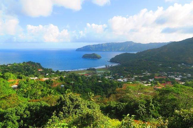 Calvaire Cemetery Hiva Oa Marquesas Islands French Polynesia view