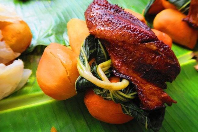 Chicekn lunch in Port Vila Central Market - Vanuatu