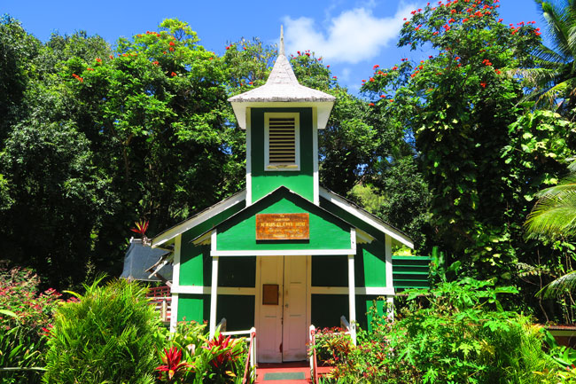 Church in Halawa Valley - Molokai Hawaii