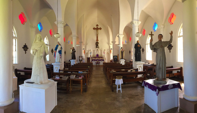 Church in Kalaupapa Leprosy Colony - Molokai Hawaii
