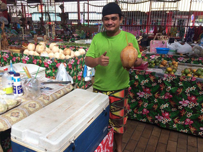 Coconut - Papeete Market - Tahiti - French Polynesia