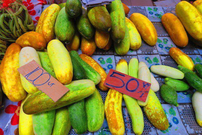 Cucumbers in Port Vila Central Market - Vanuatu