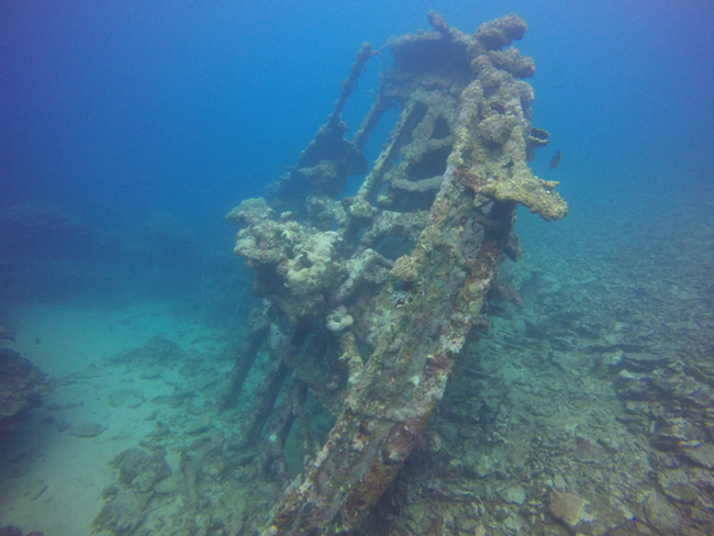 Diving Savaii Samoa wreck diving