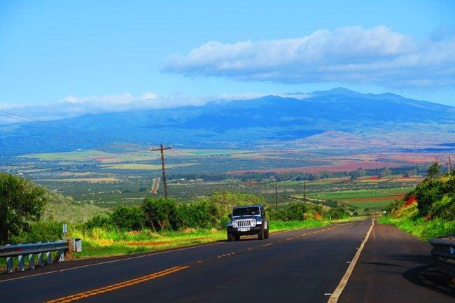 Driving in Molokai Hawaii