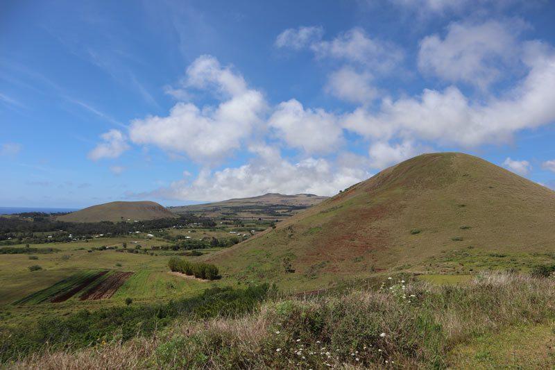 Easter Island landscape from Puna Pau - Easter Island