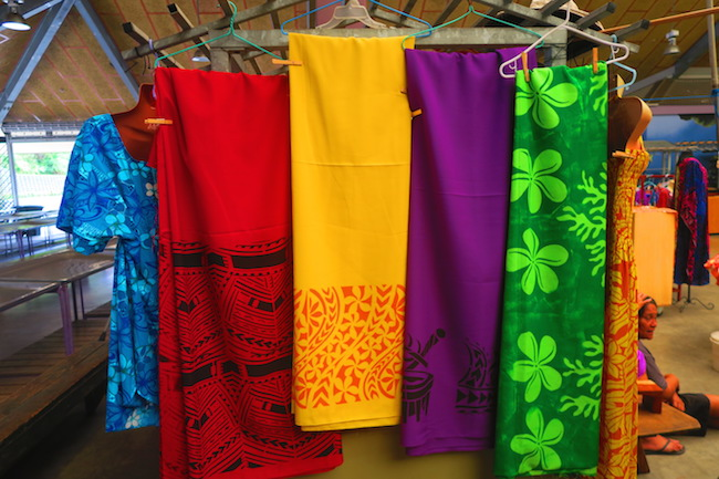 Fagatogo Market Pago Pago American Samoa - sarongs