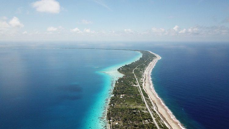 Fakarava atoll French Polynesia from the air