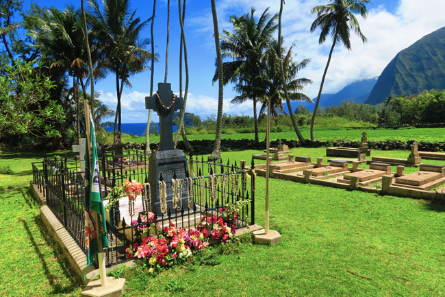 Father Damien Grave site - Kalaupapa Molokai Hawaii