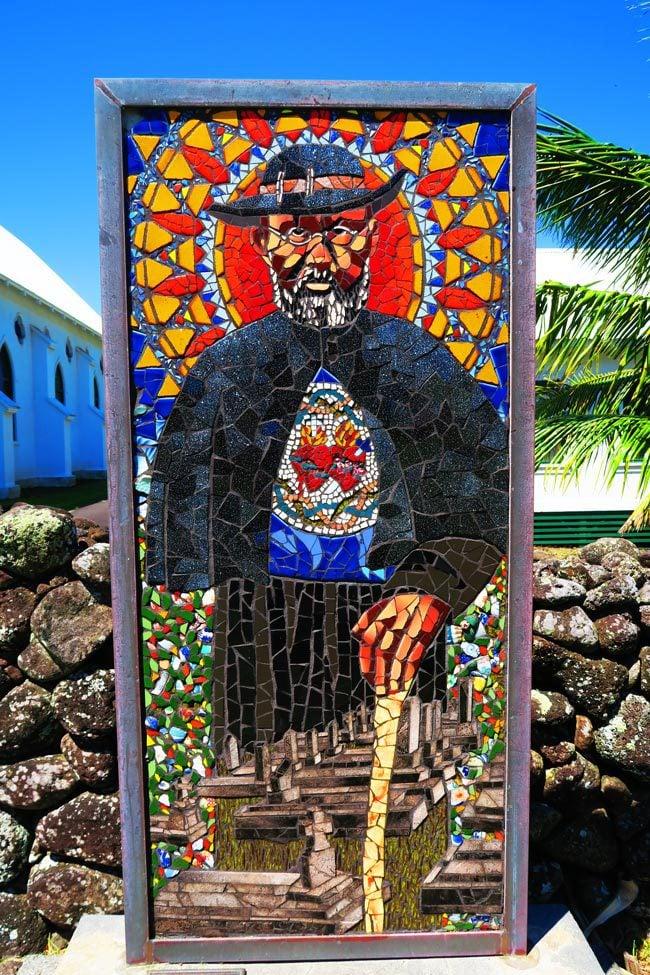 Father Damien Portrait - Kalaupapa Molokai Hawaii