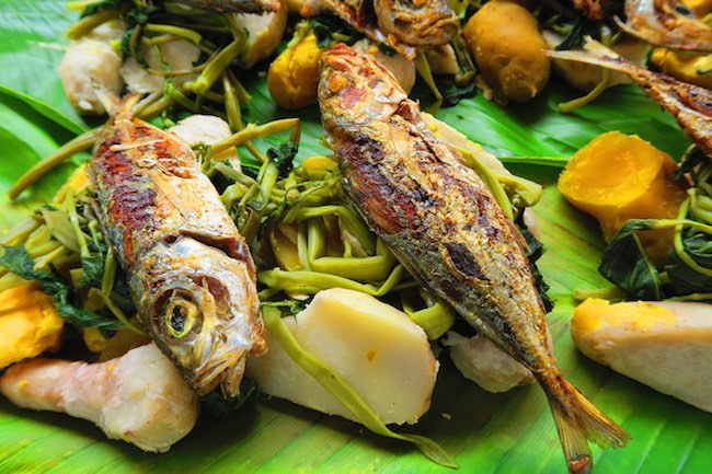 Fish lunch in Port Vila Central Market - Vanuatu