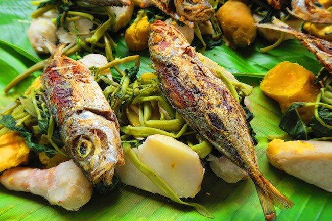Fish lunch in Port Vila Central Market - Vanuatu