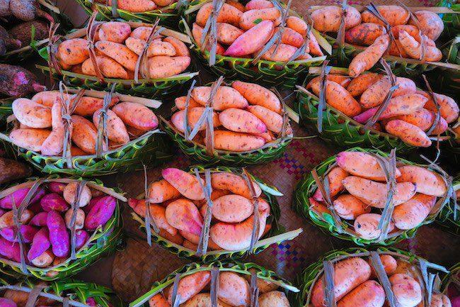 Food baskets in Port Vila Central Market - Vanuatu