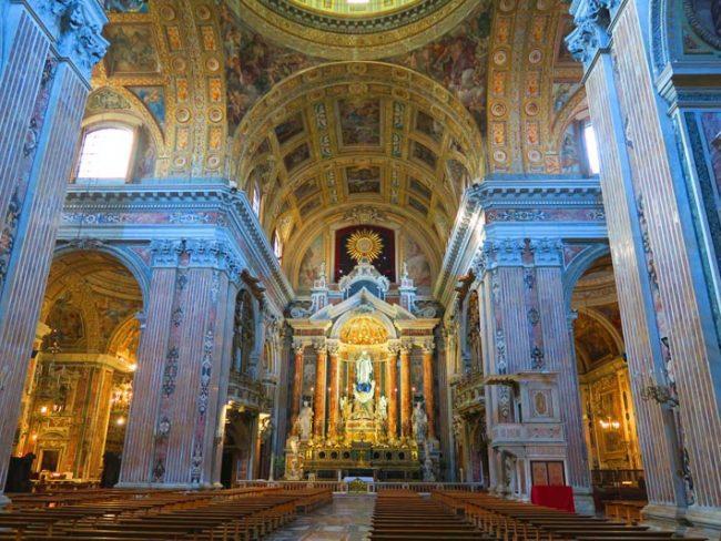 Gesu Nuovo Church Naples - interior