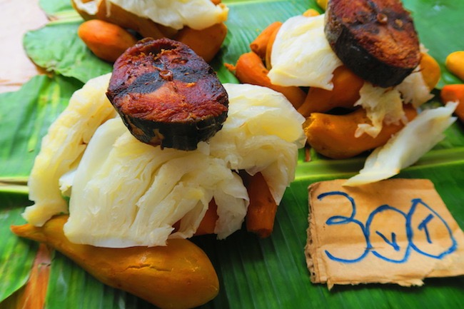 Grilled fish lunch Port Vila Central Market - Vanuatu