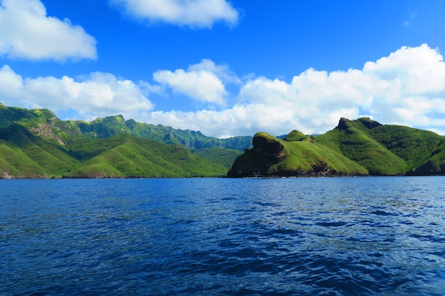 Hakaui Valley Vaipo Waterfall hike boat ride Nuku Hiva Marquesas Islands French Polynesia