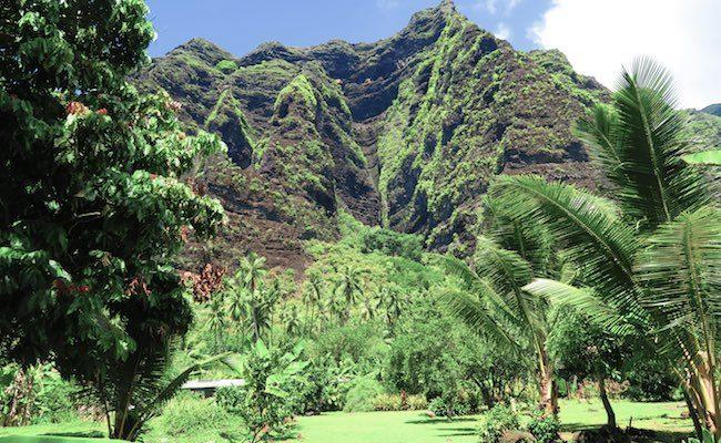 Hakaui Valley Vaipo Waterfall hike cliffs Nuku Hiva Marquesas Islands French Polynesia