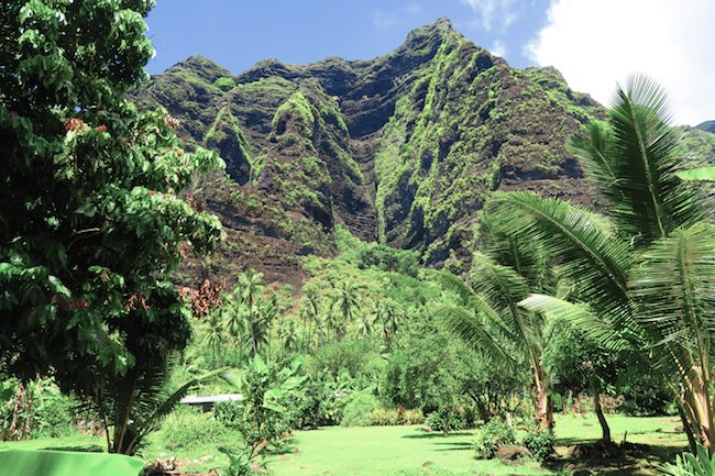 Hakaui Valley Vaipo Waterfall hike cliffs Nuku Hiva Marquesas Islands French Polynesia