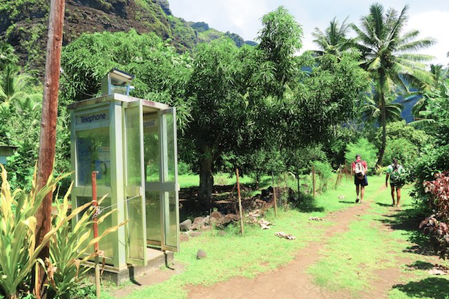 Hakaui Valley Vaipo Waterfall hike payphone Nuku Hiva Marquesas Islands French Polynesia