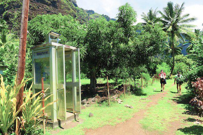 Hakaui Valley Vaipo Waterfall hike payphone Nuku Hiva Marquesas Islands French Polynesia