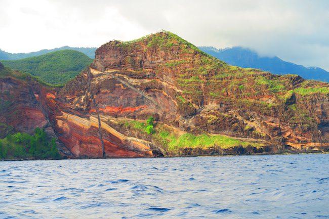 Hakaui Valley Vaipo Waterfall hike volcanic rock Nuku Hiva Marquesas Islands French Polynesia