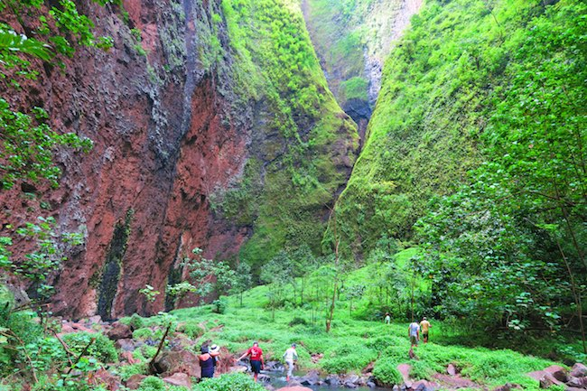 Hakaui Valley approaching Vaipo Waterfall Nuku Hiva Marquesas Islands French Polynesia