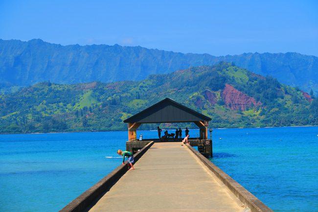 Hanalei Pier Black Pot Beach - Kauai, Hawaii